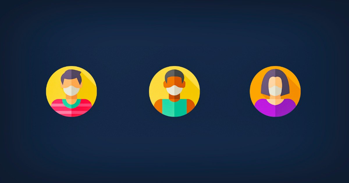 Facemask icons